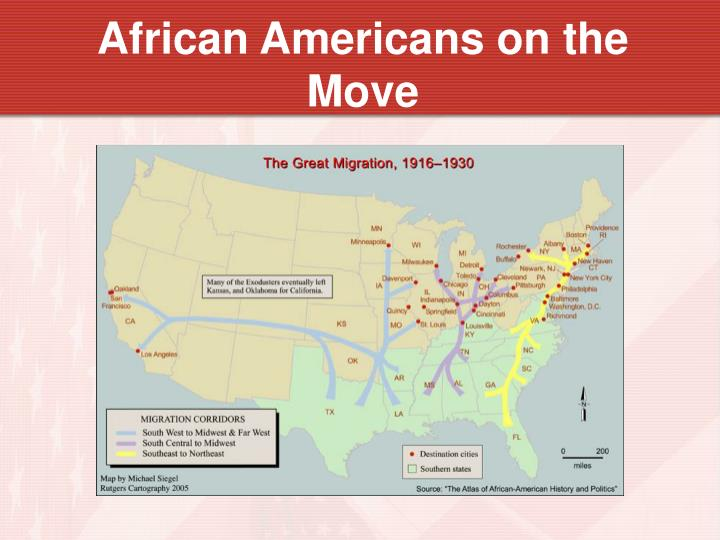 African Americans on the Move