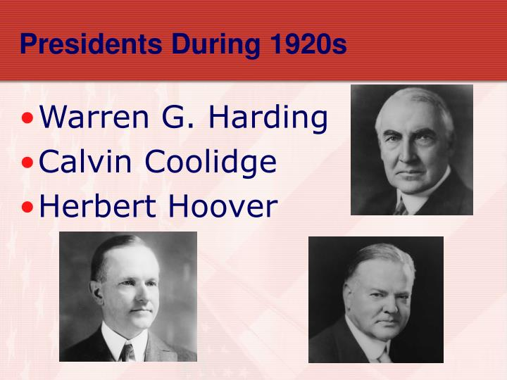 Presidents During 1920s