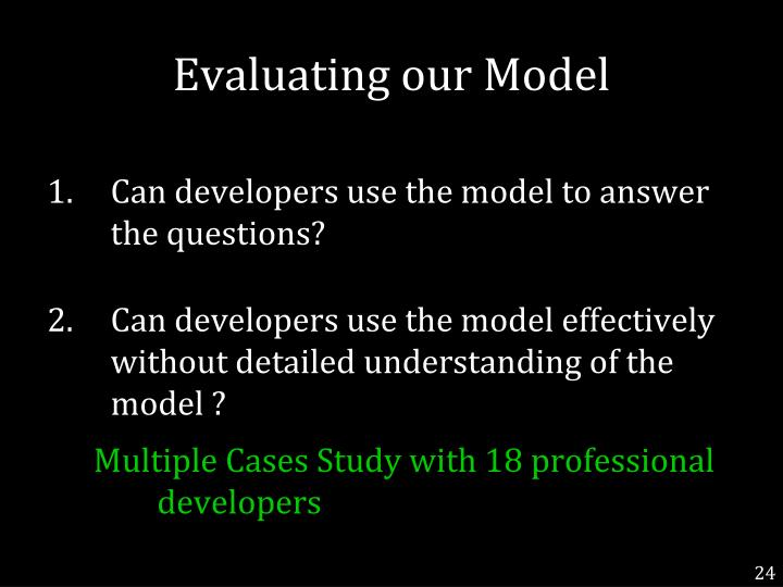 Evaluating our Model