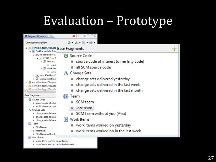Evaluation – Prototype