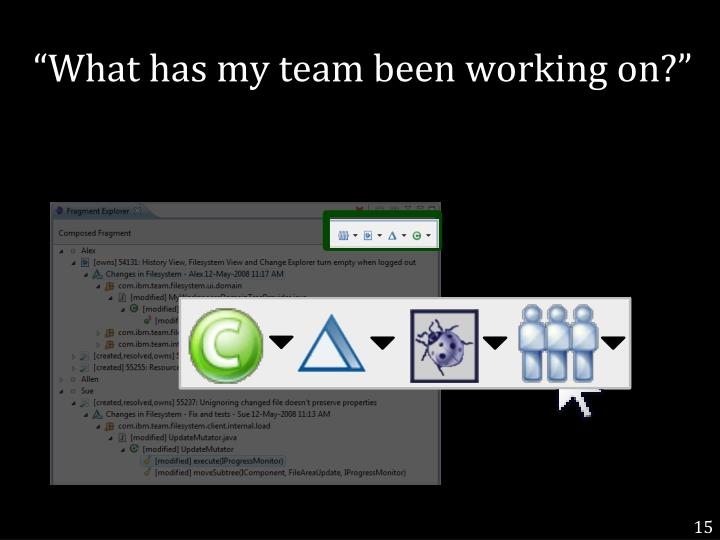 """What has my team been working on?"""
