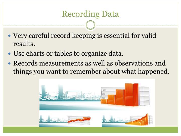 Recording Data