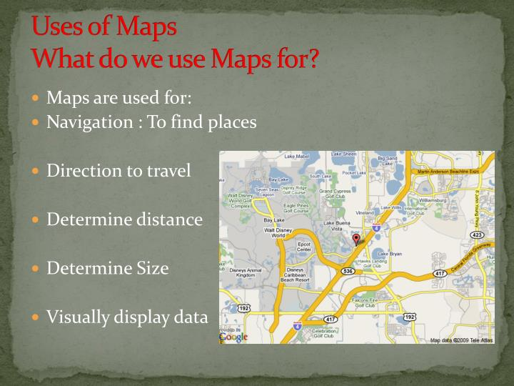 Uses of Maps