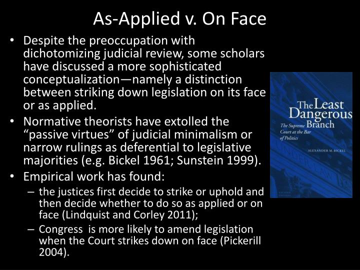 As-Applied v. On Face