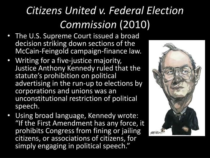 Citizens united v federal election commission 2010