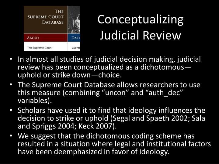 Conceptualizing Judicial Review