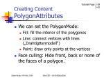 creating content polygonattributes