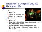 introduction to computer graphics 2d versus 3d