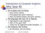 introduction to computer graphics why java 3d
