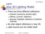 lights java 3d lighting model