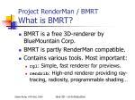 project renderman bmrt what is bmrt