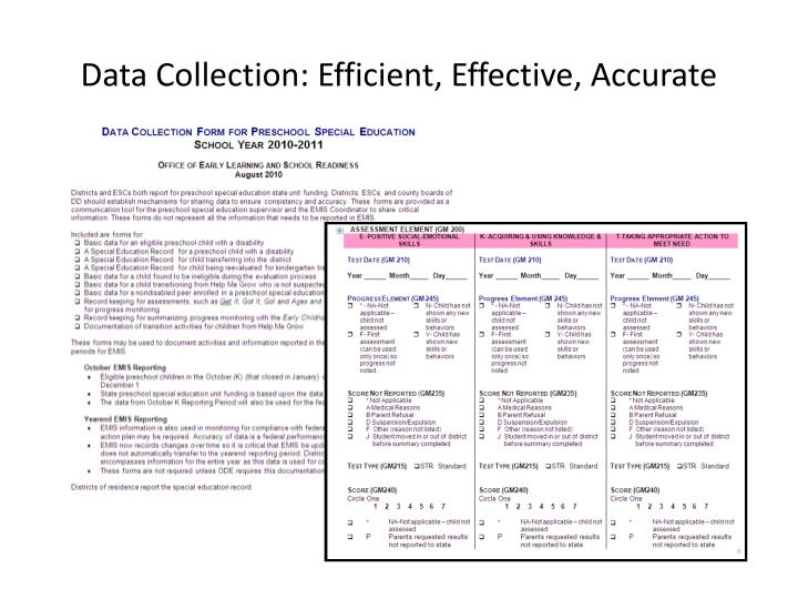 Data Collection: Efficient, Effective, Accurate
