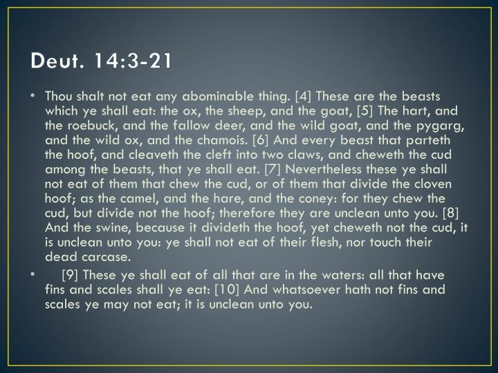 Deut. 14:3-21
