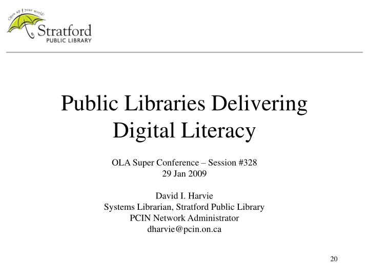 Public Libraries Delivering Digital Literacy