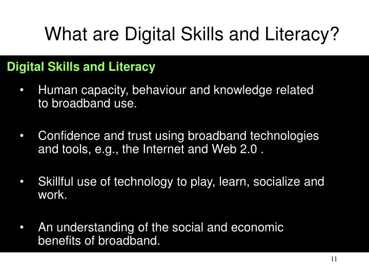 What are Digital Skills and Literacy?