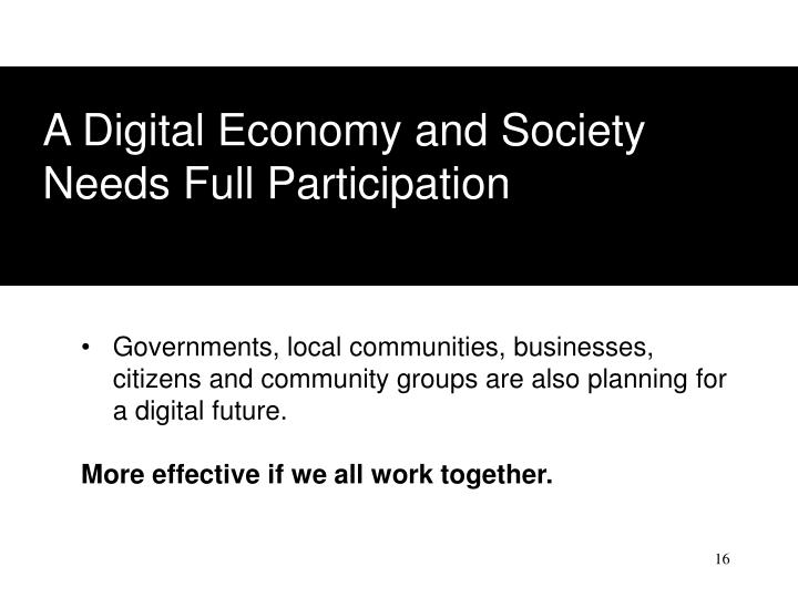 A Digital Economy and Society