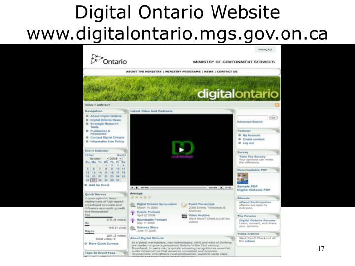 Digital Ontario Website