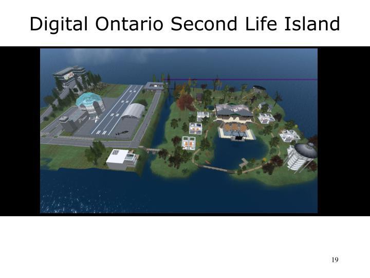 Digital Ontario Second Life Island