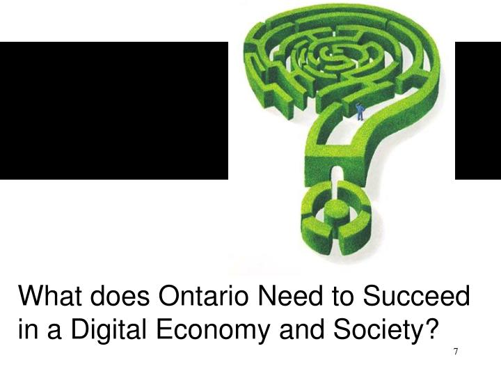 What does Ontario Need to Succeed