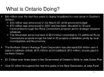 what is ontario doing