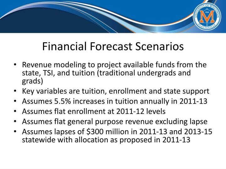 Financial Forecast Scenarios