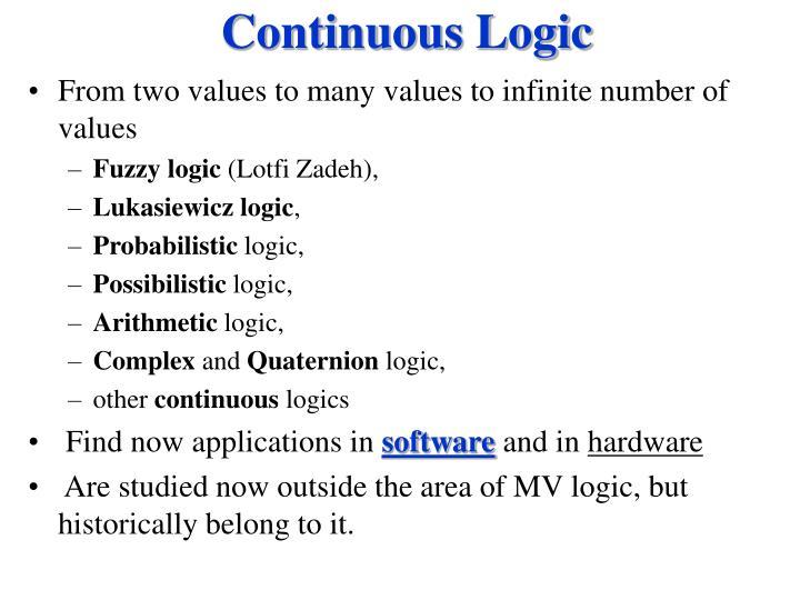Continuous Logic