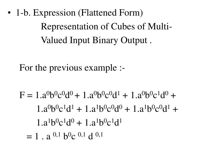 1-b. Expression (Flattened Form)