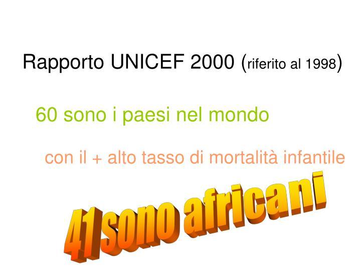 Rapporto UNICEF 2000 (