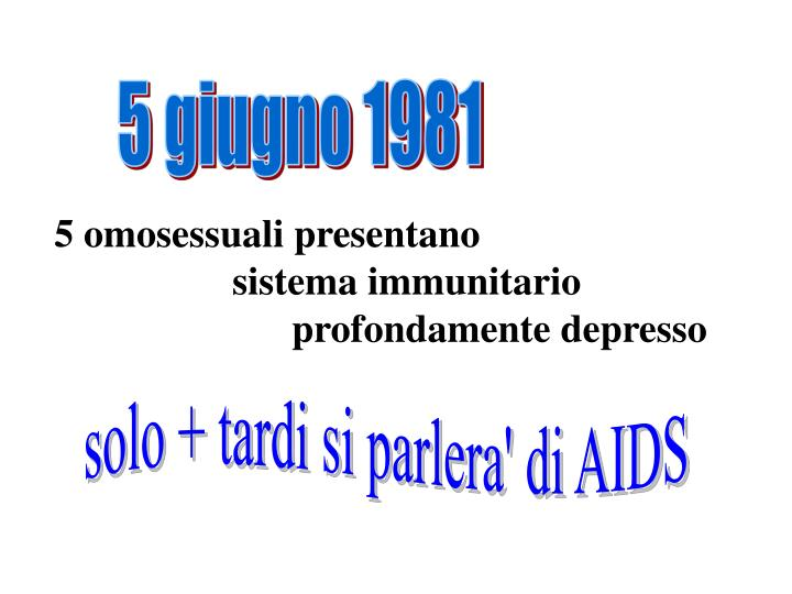 5 giugno 1981