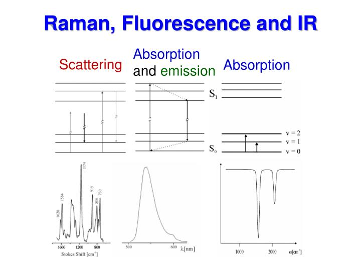 Raman, Fluorescence and IR