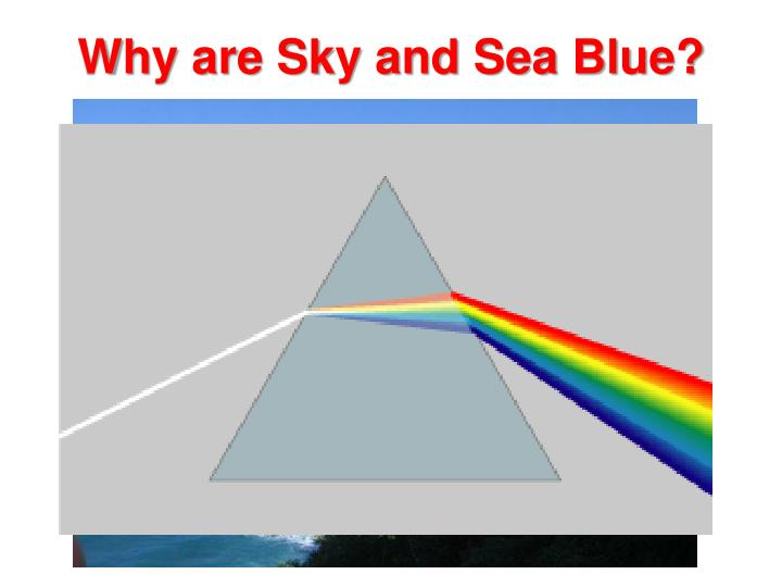 Why are sky and sea blue