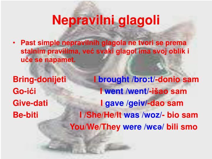 Nepravilni glagoli
