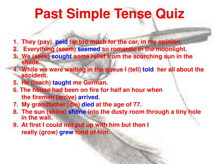Past Simple Tense Quiz