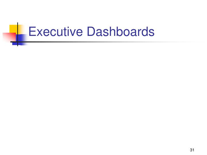 Executive Dashboards