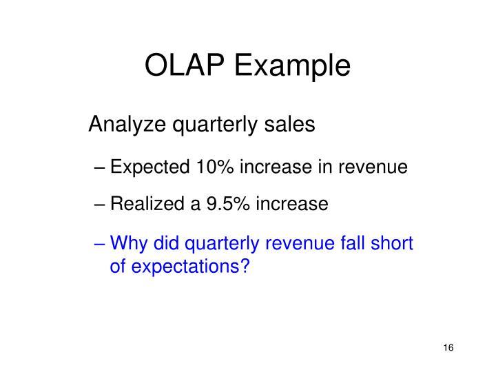 OLAP Example