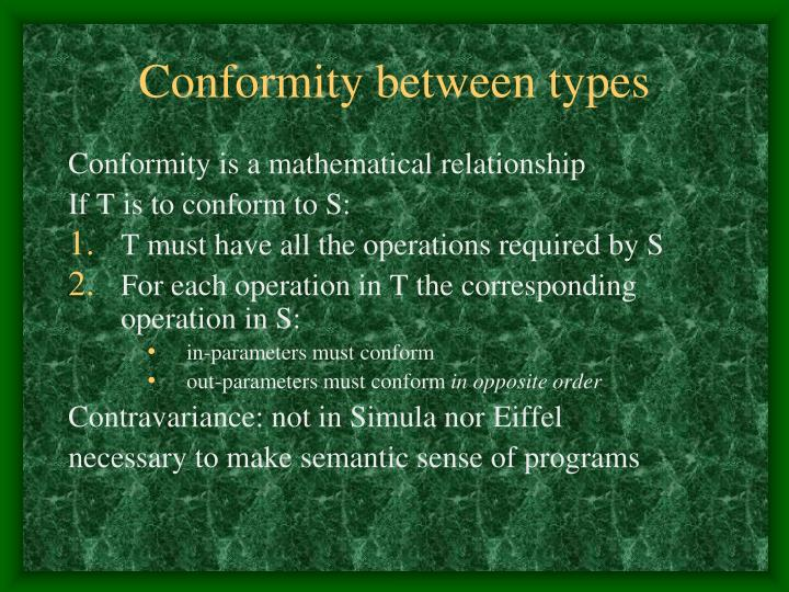 Conformity between types
