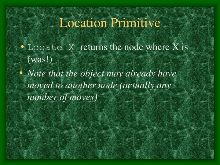 Location Primitive
