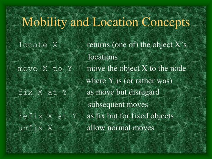 Mobility and Location Concepts