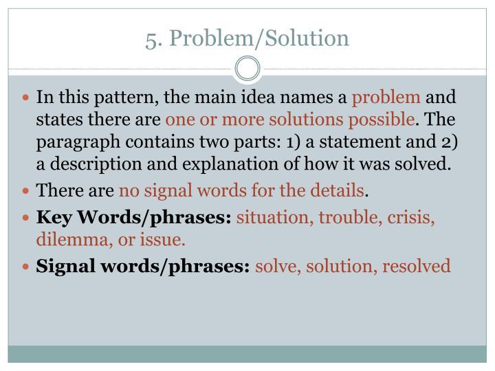 5. Problem/Solution