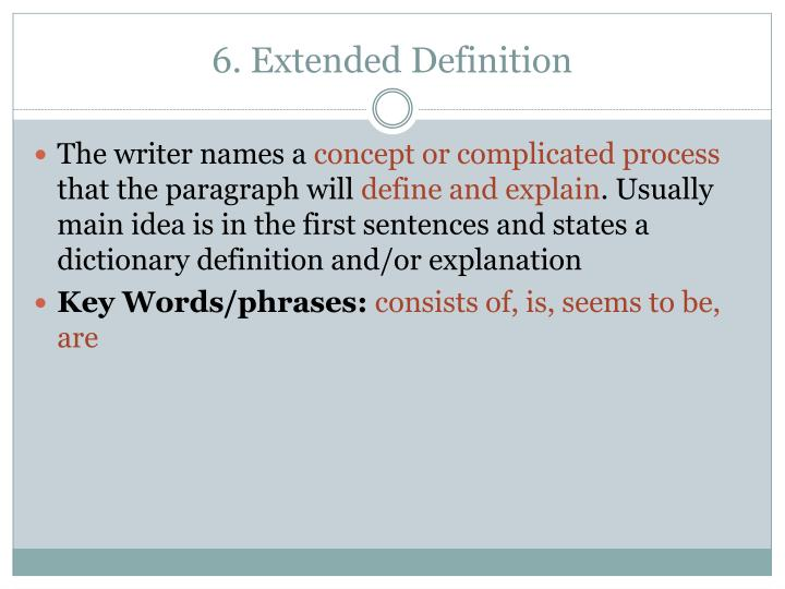 6. Extended Definition