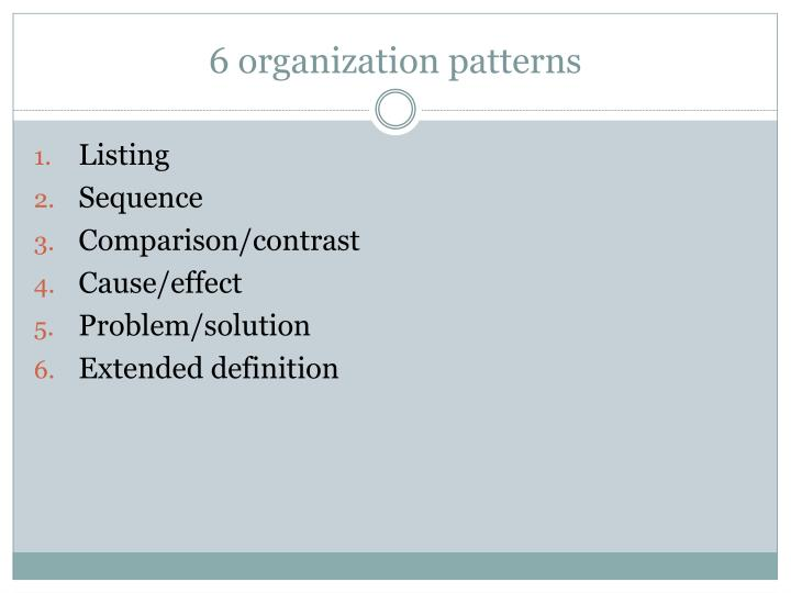 6 organization patterns