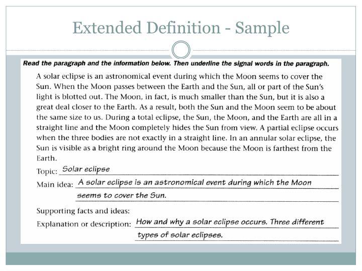 Extended Definition - Sample