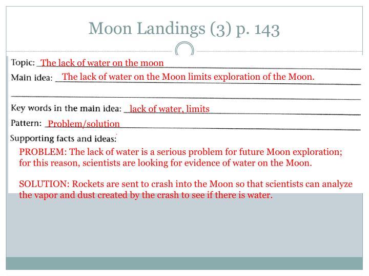 Moon Landings (3) p. 143