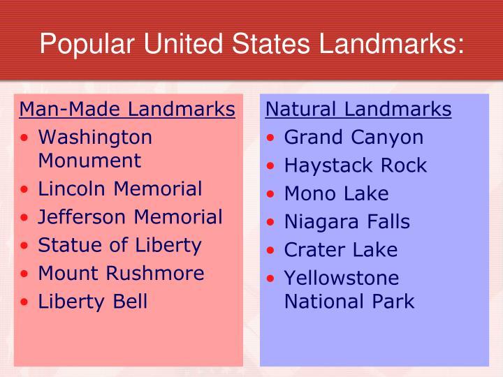 Popular United States Landmarks: