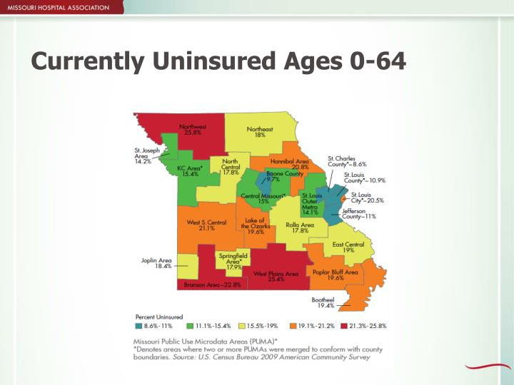 Currently Uninsured Ages 0-64