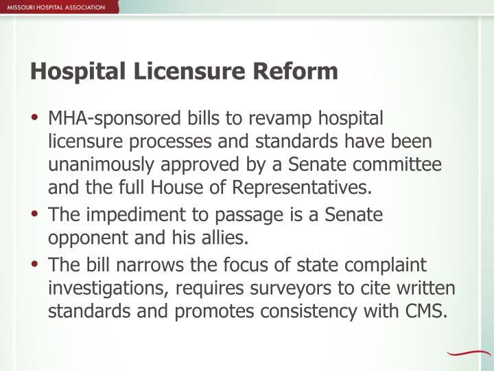 Hospital Licensure Reform