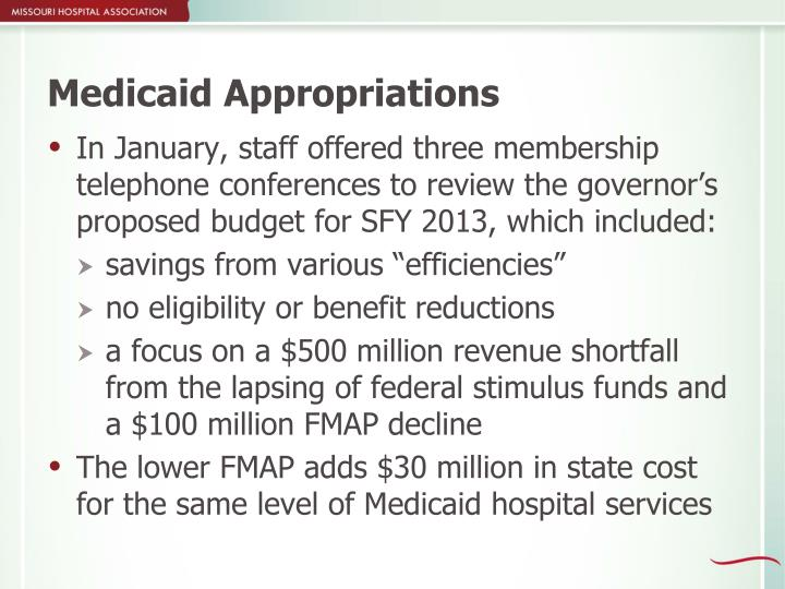 Medicaid Appropriations