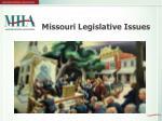 missouri legislative issues