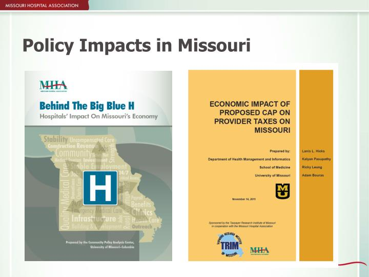 Policy Impacts in Missouri