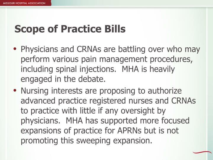 Scope of Practice Bills
